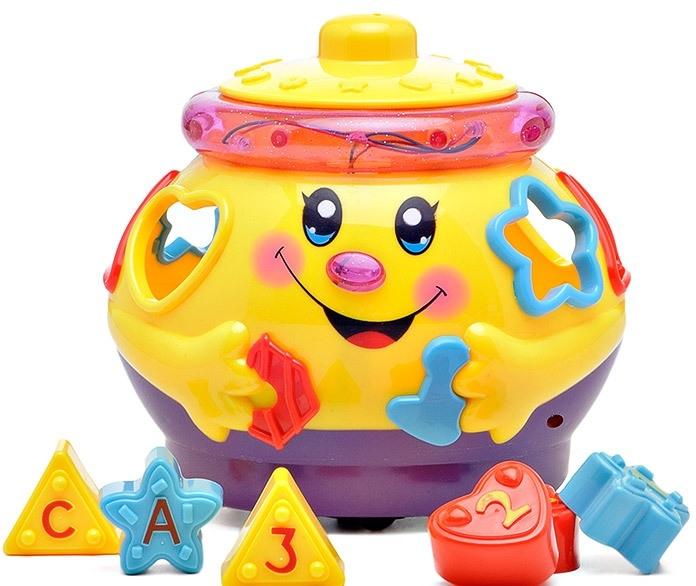Обучающая игрушка - Музыкальный горшочек, с эффектами звука и света,Сортеры, пирамидки<br>Обучающая игрушка - Музыкальный горшочек, с эффектами звука и света,<br>