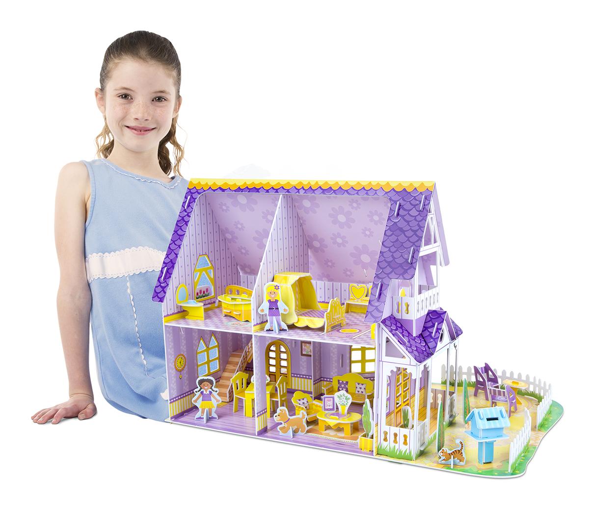 Пурпурный домик для куклы Melissa&Doug