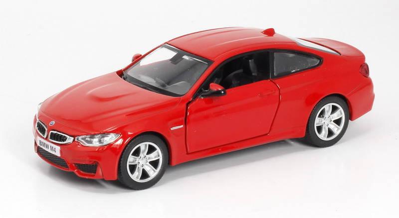 Металлическая инерционная машина RMZ City - BMW M4 Coupe with Strip, 1:32, 2 цветаBMW<br>Металлическая инерционная машина RMZ City - BMW M4 Coupe with Strip, 1:32, 2 цвета<br>