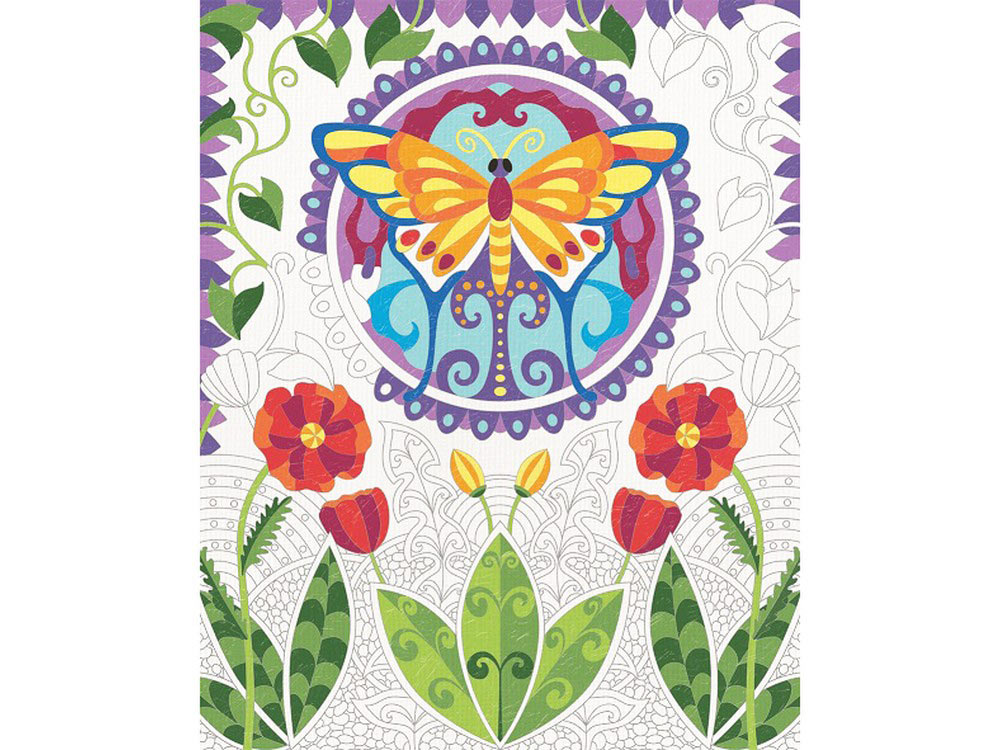 Картина для раскрашивания по номерам - Бабочка, 24 х 30 см.Раскраски по номерам Schipper<br>Картина для раскрашивания по номерам - Бабочка, 24 х 30 см.<br>