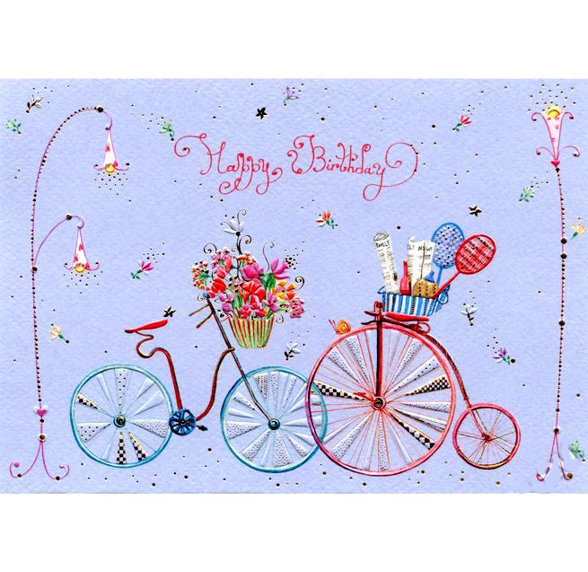 Открытка - Два велосипеда, с конвертом