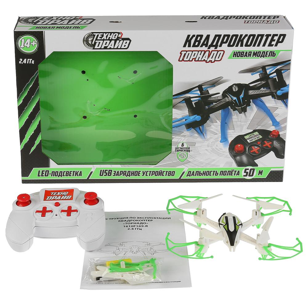 Купить Квадрокоптер Торнадо, свет, Usb зарядное устройство, Техно драйв