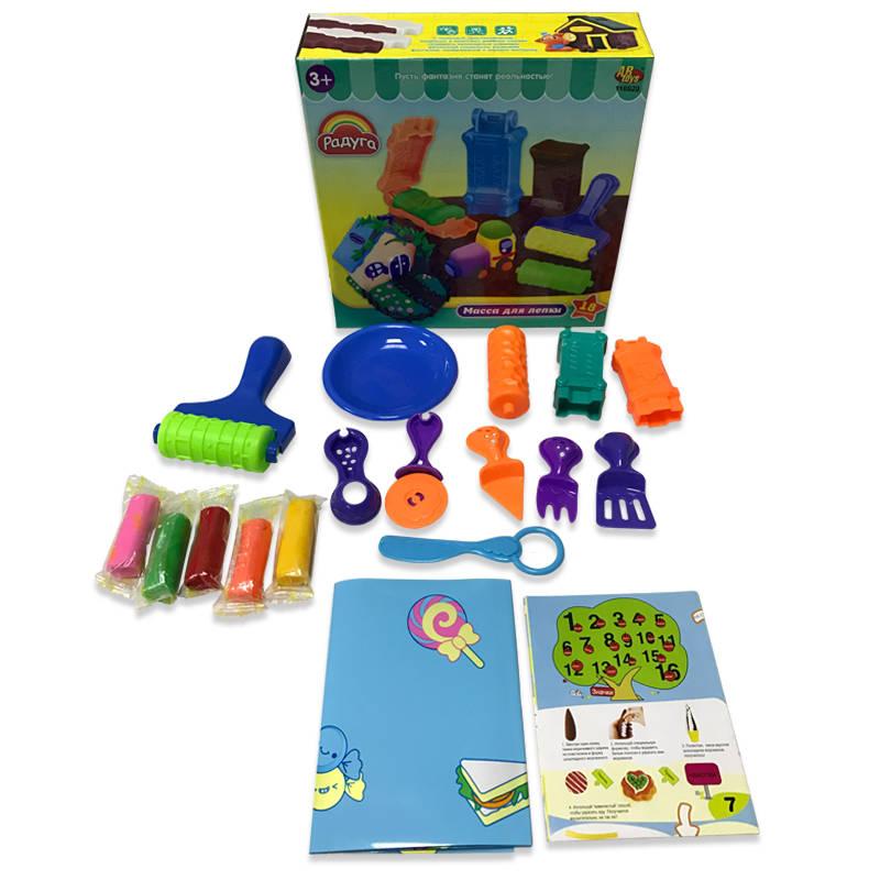 Набор  Масса для лепки, 5 разноцветных баночек с тематическими аксессуарами, 18 предметов - Наборы для лепки, артикул: 165716