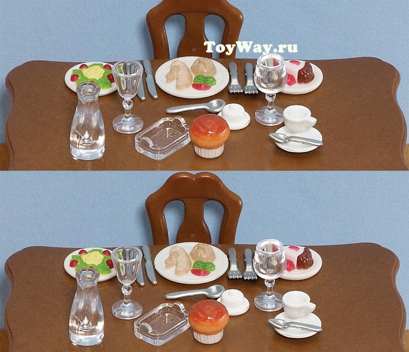 Набор  Ужин  - Игрушки Sylvanian Families, артикул: 97510
