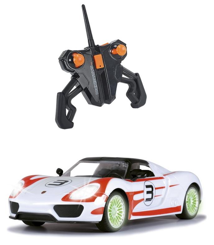 Купить Радиоуправляемая машина Porsche Spyder, свет, звук, 2-х канальный, 1:16, 26 см., Dickie Toys