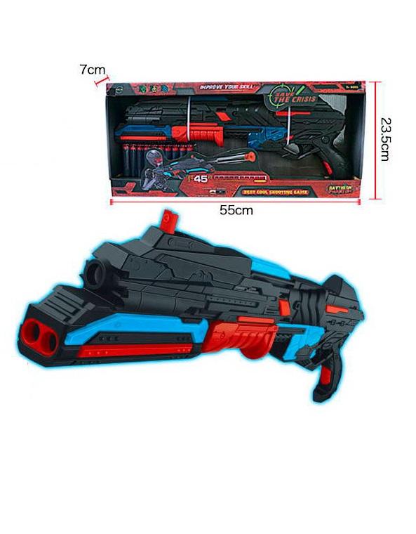 Бластер с 10 мягкими снарядамиАвтоматы, пистолеты, бластеры<br>Бластер с 10 мягкими снарядами<br>