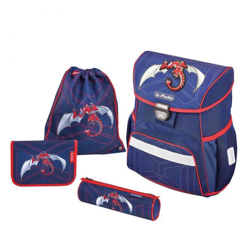 Школьный ранец Herlitz Loop Plus - Red Robo Dragon, с наполнениемШкольные рюкзаки<br>Школьный ранец Herlitz Loop Plus - Red Robo Dragon, с наполнением<br>
