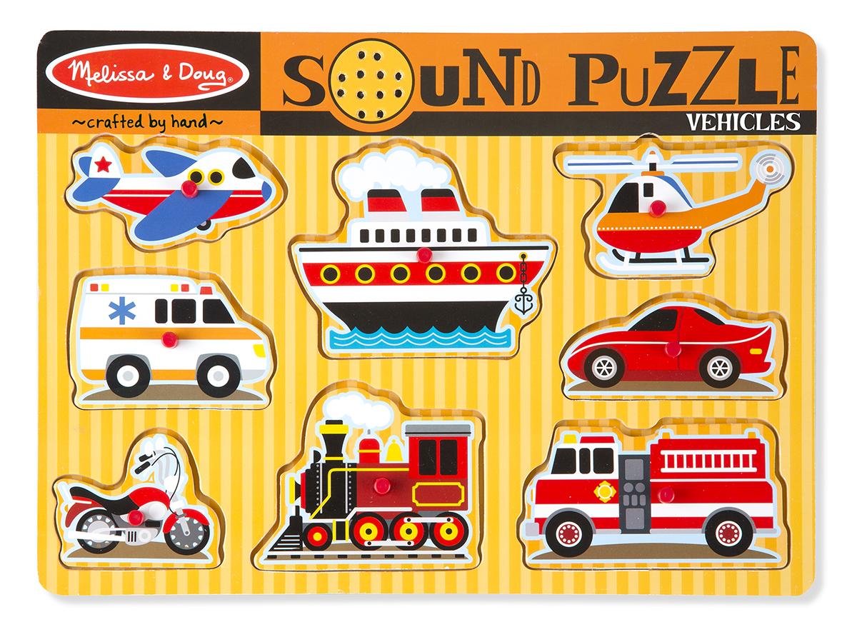 Звуковой пазл-головоломка «Транспорт»Пазлы для малышей<br>Звуковой пазл-головоломка «Транспорт»<br>