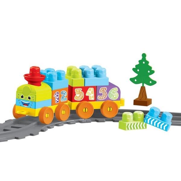 Купить Моя первая железная дорога с конструктором, 36 элементов, 145 см., Dolu