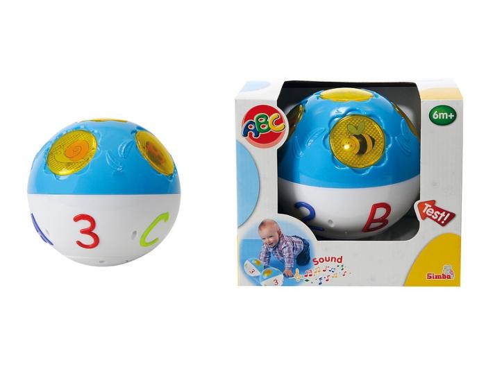 АВС Шар, 5 кнопок со светом и звукомРазвивающие игрушки Simba Baby<br>АВС Шар, 5 кнопок со светом и звуком (Simba, 4015659)<br>Стимулирует двигательную активность, развивает мелкую моторику, световые и звуковые эффекты.<br>...<br>