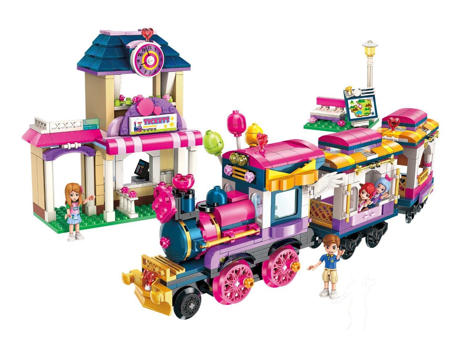 Конструктор  - Поезд, с фигурками, 690 деталей ) по цене 5 327