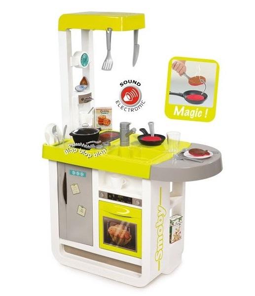 Кухня электронная Smoby Cherry, желтая, звукДетские игровые кухни<br>Кухня электронная Smoby Cherry, желтая, звук<br>