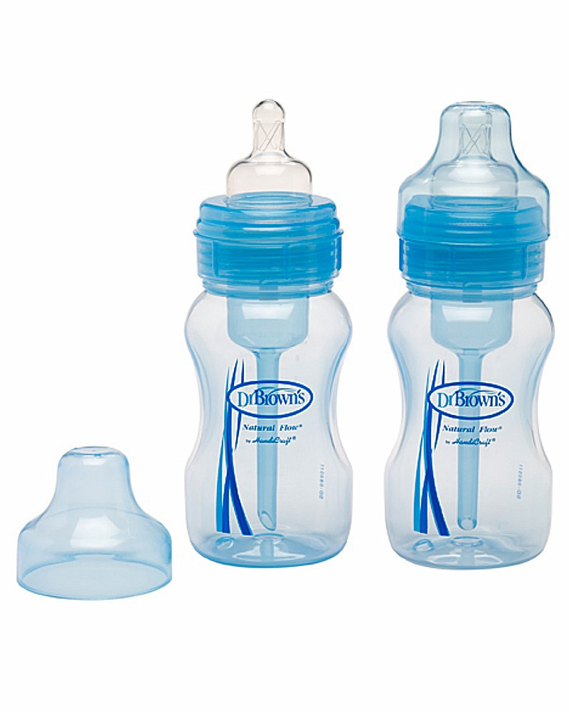 Набор 2-х синих бутылочек с широким горлышкомБутылочки<br>Набор 2-х синих бутылочек с широким горлышком<br>