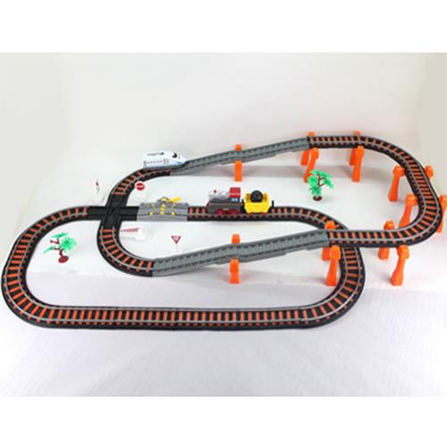 Купить Железная дорога - Останови крушение, 2-х ярусная, с перекрёстком, Yako