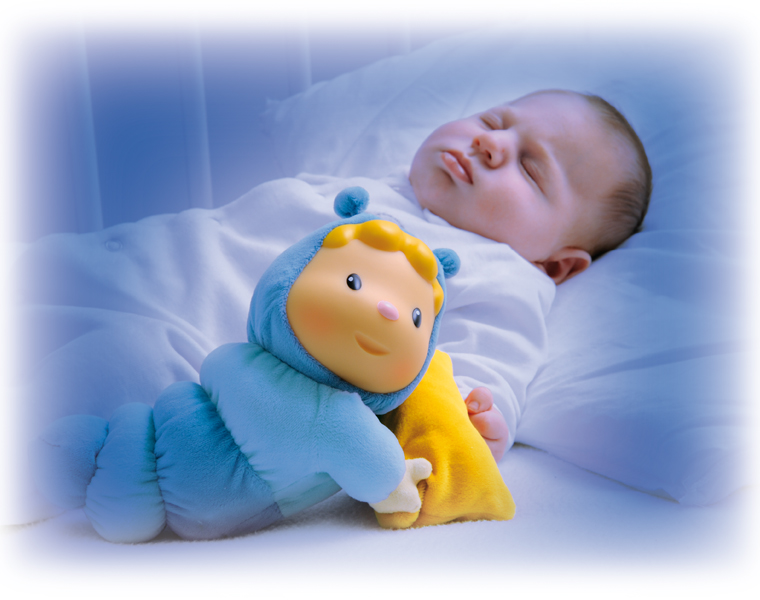 Cotoons Smoby. Ночник-кукла со звуковым и световым эффектом - Музыкальные ночники и проекторы, артикул: 85127
