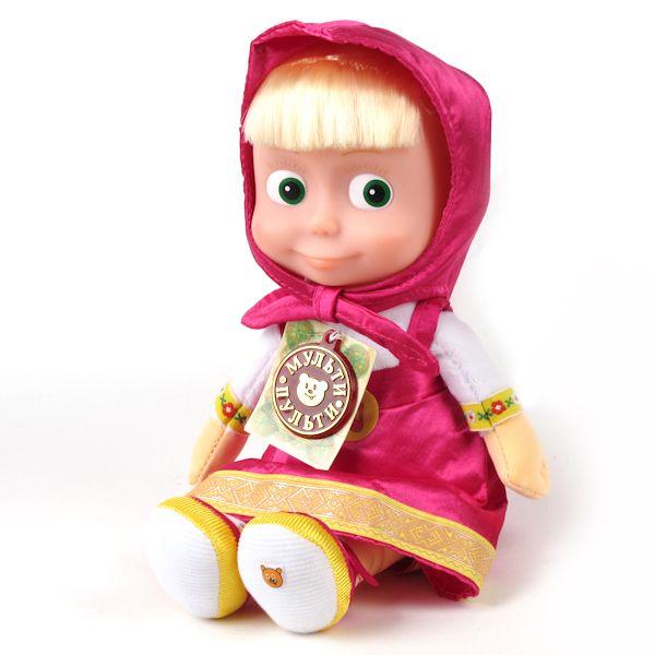 Мягкая игрушка Маша  озвученная, с музыкальным чипом, 29 см.Говорящие игрушки<br>Мягкая игрушка Маша  озвученная, с музыкальным чипом, 29 см.<br>