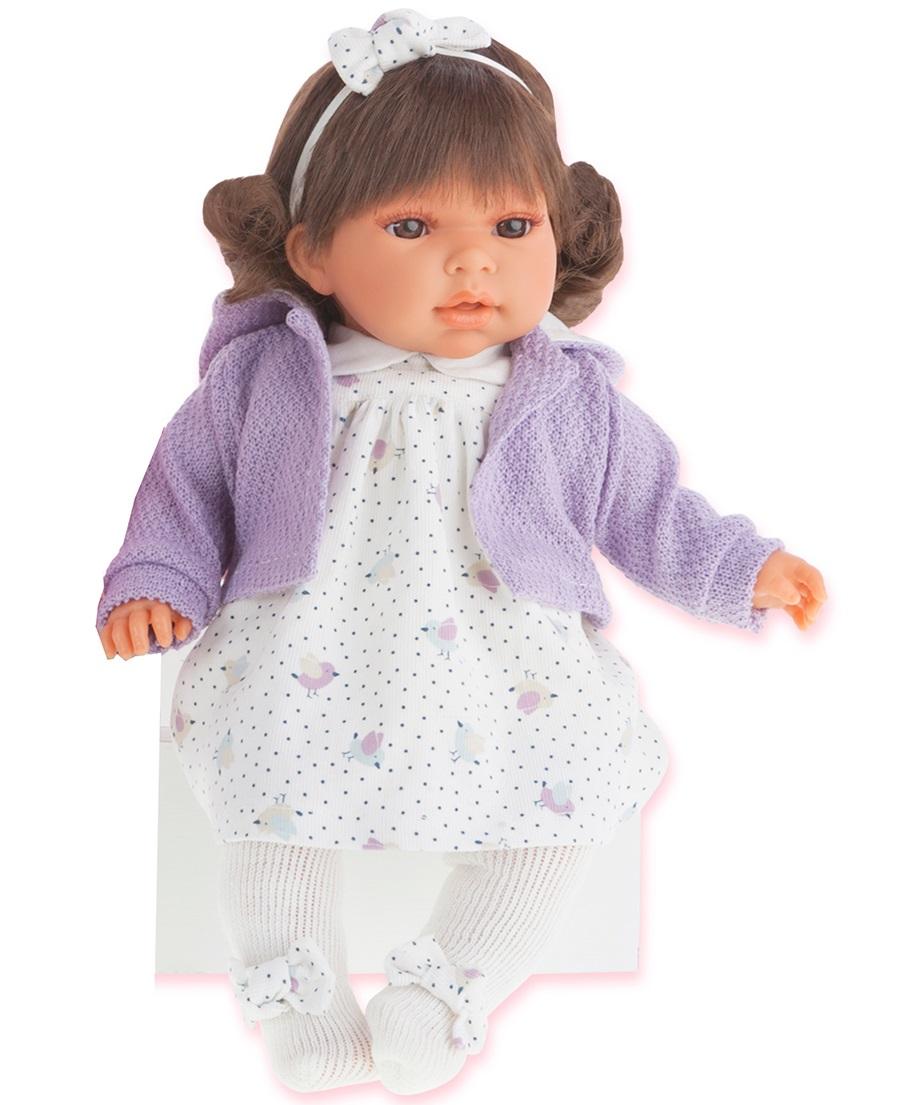 Озвученная кукла Лорена в фиолетовом, 37 смКуклы Антонио Хуан (Antonio Juan Munecas)<br>Озвученная кукла Лорена в фиолетовом, 37 см<br>