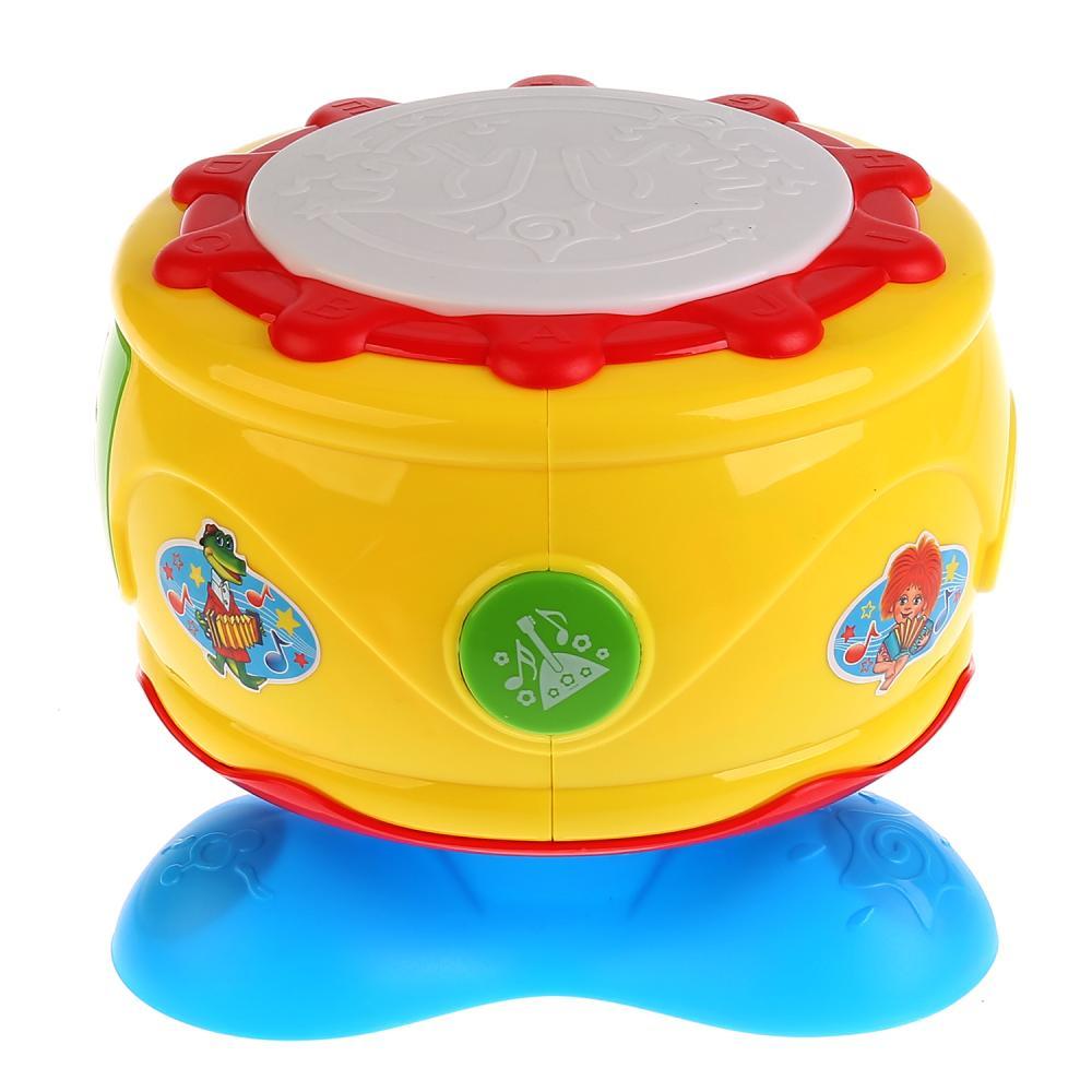 Купить Развивающий барабан с 20 любимыми песнями и потешками, регулировка громкости, Умка