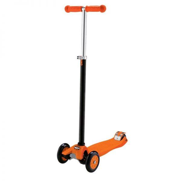 Трехколесный самокат Макси, полиуретановые колеса, нагрузка до 60 кг, оранжевый