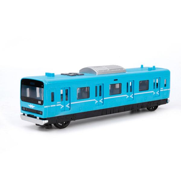 Купить Вагон метро инерционный, свет и звук, русифицированный, открываются двери, Технопарк
