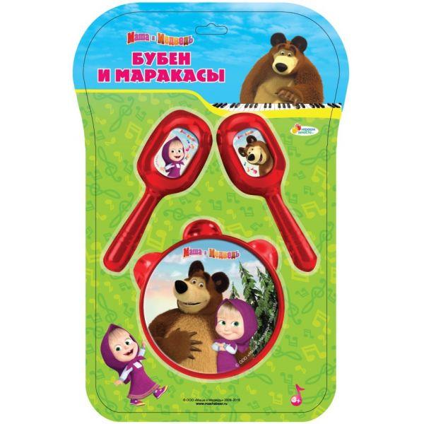 Купить Бубен и маракасы - Маша и Медведь, Играем вместе