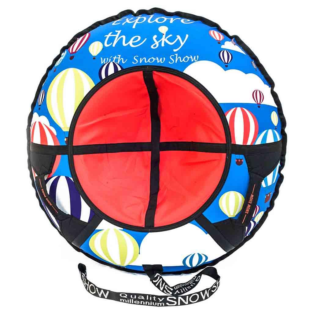 Санки надувные – Тюбинг, воздушные шары, диаметр 105 смВатрушки и ледянки<br>Санки надувные – Тюбинг, воздушные шары, диаметр 105 см<br>