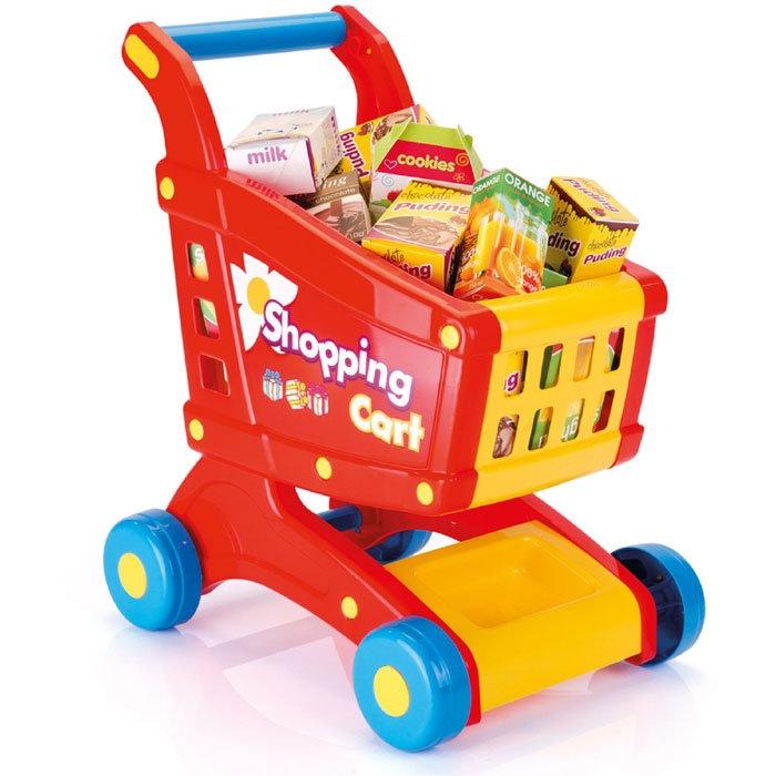 Купить Игровой набор - Тележка с продуктами, Dolu