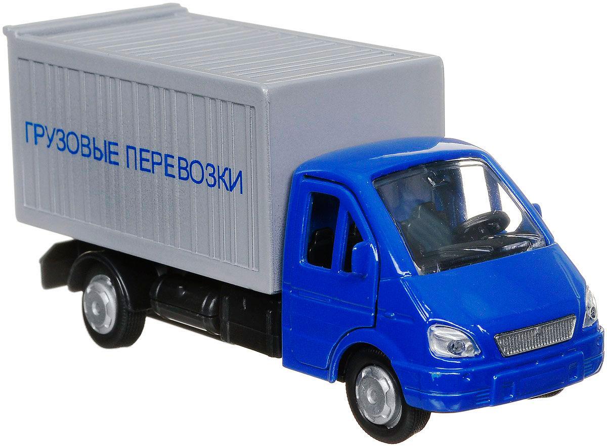 Купить Машина металлическая инерционная - Газель Грузовые перевозки, 12 см., открываются двери, Технопарк