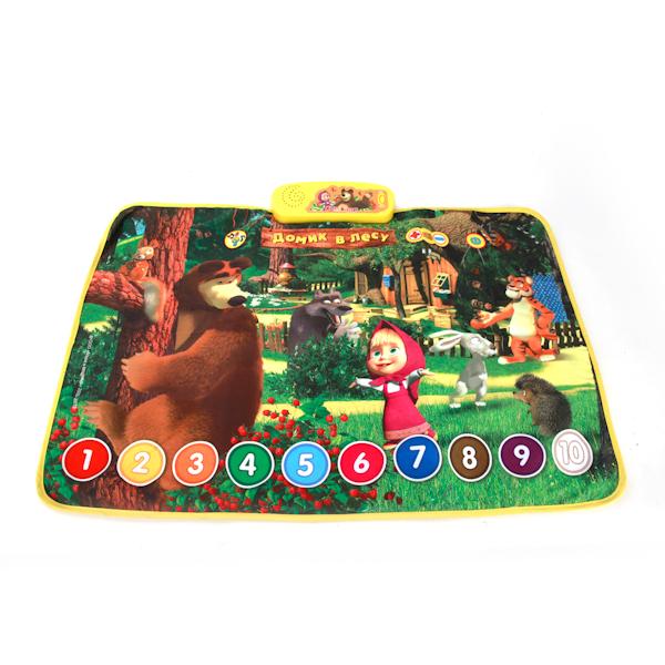 Обучающий коврик из серии Маша и Медведь - Домик в лесуМаша и медведь игрушки<br>Обучающий коврик из серии Маша и Медведь - Домик в лесу<br>