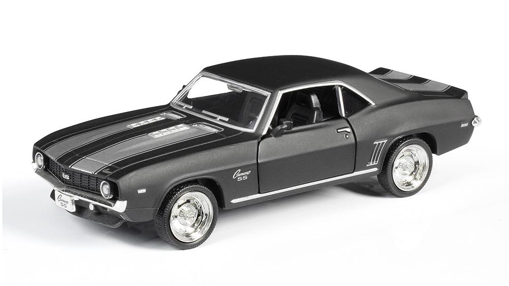 Металлическая инерционная машина RMZ City - Chevrolet Camaro 1969, 1:32, серый матовыйChevrolet<br>Металлическая инерционная машина RMZ City - Chevrolet Camaro 1969, 1:32, серый матовый<br>