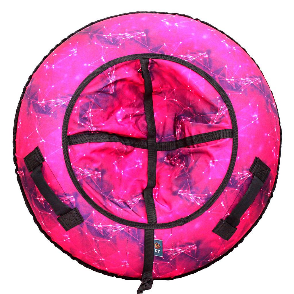 Купить Санки надувные – Тюбинг Созвездие, розовое, 105 см, RT