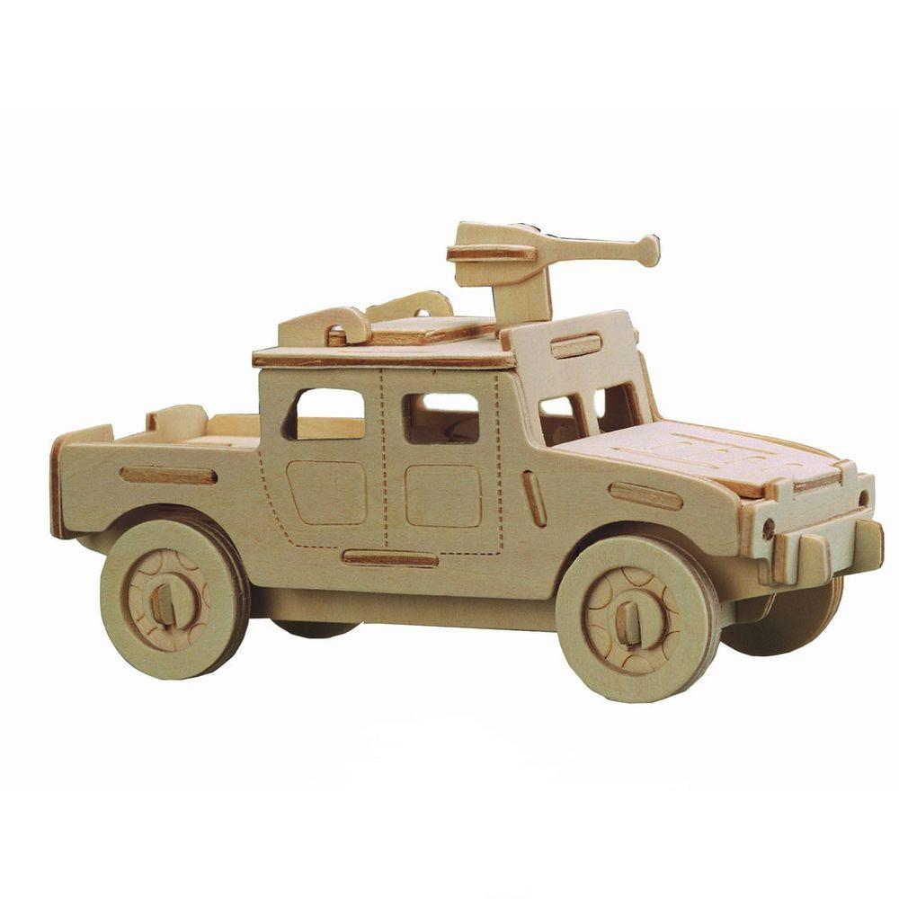 Модель деревянная сборная - Военная техника - Военный внедорожник