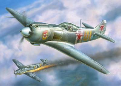 Модель для склеивания - Самолёт Ла-5ФНМодели самолетов для склеивания<br>Модель для склеивания - Самолёт Ла-5ФН<br>