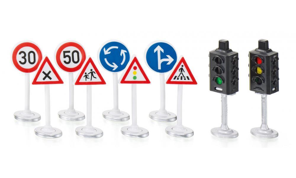 Набор Siku World - Светофоры и дорожные знакиЗнаки дорожного движения, светофоры<br>Набор Siku World - Светофоры и дорожные знаки<br>