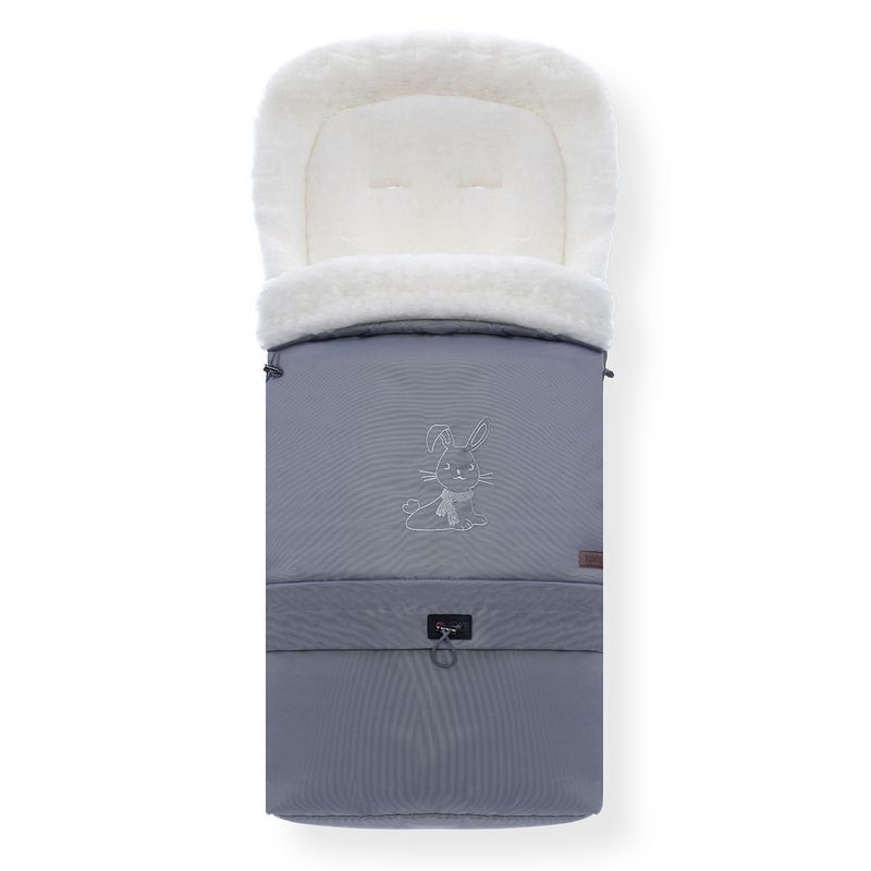 Конверт зимний меховой Nuovita Alaska Bianco Grigio/Серый