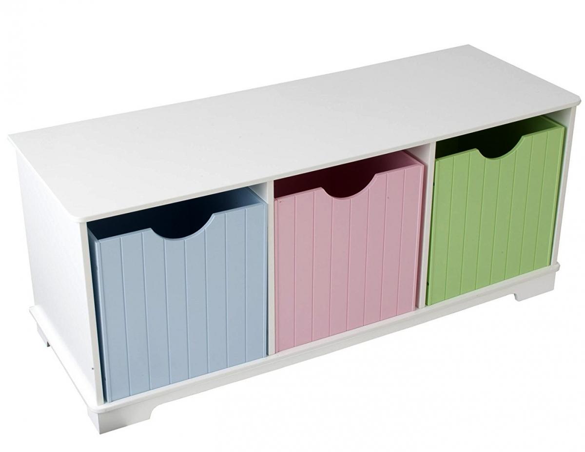 Купить Скамья с ящичками для хранения - Storage Bench Pastel, KidKraft
