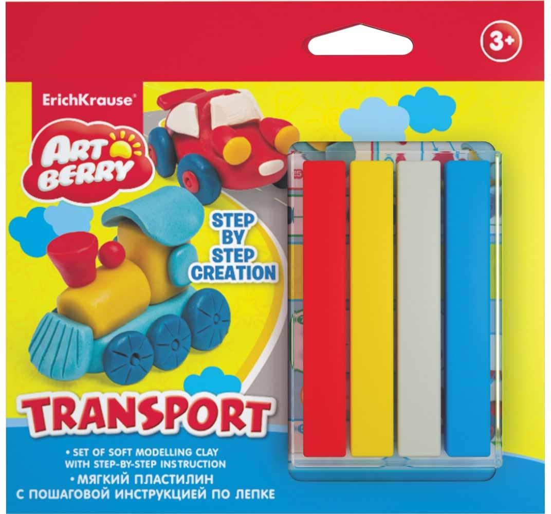 Набор для лепки - Транспорт, 4 цвета, Erich Krause  - купить со скидкой
