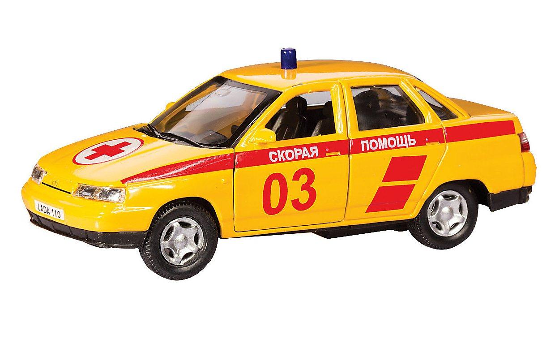Машинка металлическая Lada 110 - Скорая помощь, 1:36LADA<br>Машинка металлическая Lada 110 - Скорая помощь, 1:36<br>