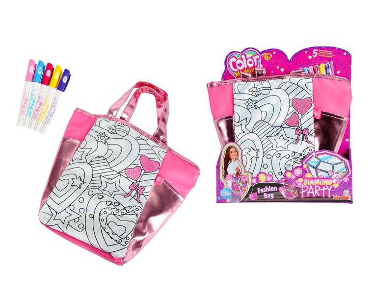 Сумочка Алмазный блеск, 5 перманентных маркеровСумки и  рюкзачки Simba Color Me mine<br>Сумочка Алмазный блеск, 5 перманентных маркеров<br>