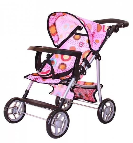 Кукольная коляскаКоляски для кукол<br>Кукольная коляска, RT, 5674rt.<br> <br>Дополнить увлекательную игру с любимой куклой можно с помощью детской колясочки, так сильно напоминающей реальную модель. С ней ваш ребенок почувствует себя настоящей юной мамочкой.<br> <br>Особенности:<br> <br>- Коляска предста...<br>