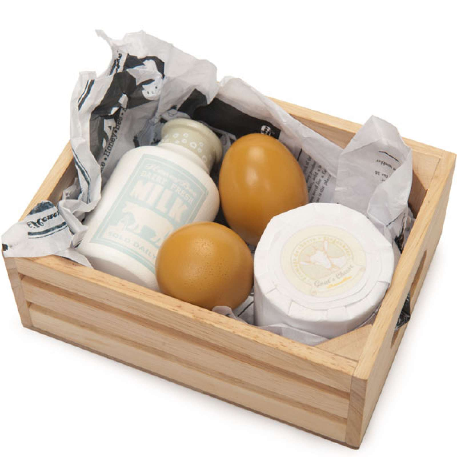 Еда игрушечная - Молоко, яйцо и сырДетская игрушка Касса. Магазин. Супермаркет<br>Еда игрушечная - Молоко, яйцо и сыр<br>