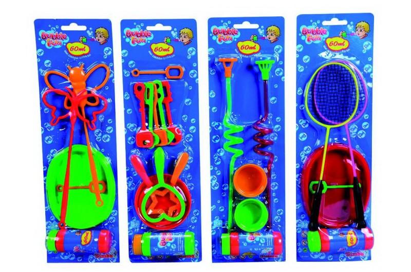 Мыльные пузыри, 4 вида, с насадками фото