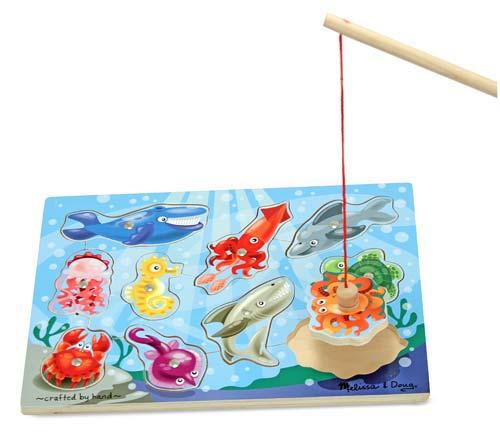 Игровой пазл Рыбалка из серии Магнитные игрыРамки и паззлы<br>Игровой пазл Рыбалка из серии Магнитные игры<br>