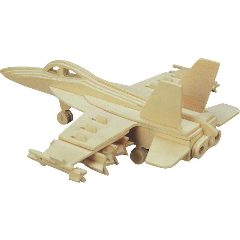 Модель деревянная сборная - Бомбардировщик F18 Хорнет, 4/30Модели самолетов для склеивания<br>Модель деревянная сборная - Бомбардировщик F18 Хорнет, 4/30<br>