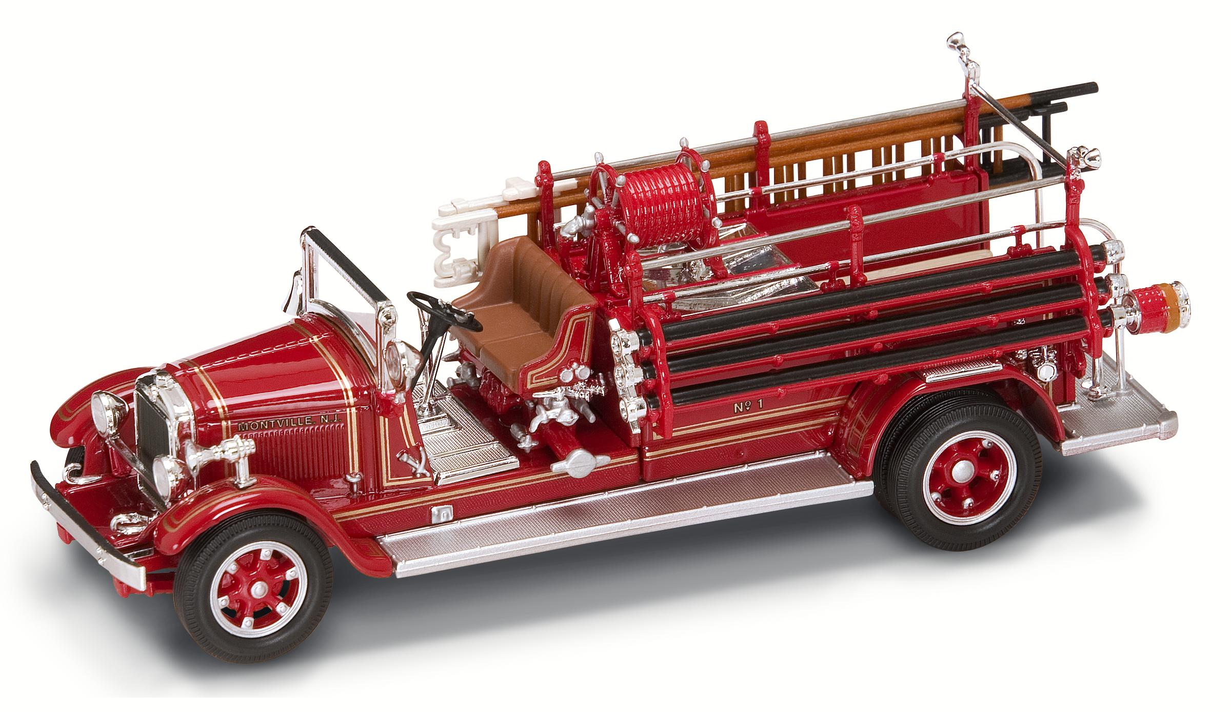 Модель пожарного автомобиля Буффало Тайп 50, образца 1932 года, масштаб 1/43Пожарная техника, машины<br>Модель пожарного автомобиля Буффало Тайп 50, образца 1932 года, масштаб 1/43<br>