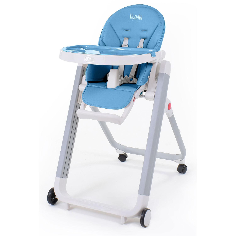 Купить Стульчик для кормления Nuovita Futuro Senso Bianco, цвет - Blu/Синий