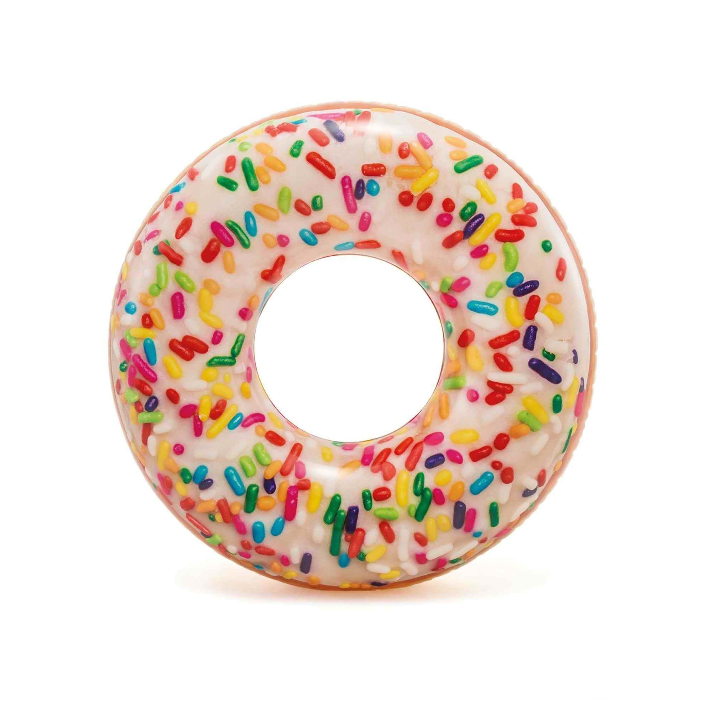 Купить Надувной круг для плавания – Пончик с присыпкой, 114 см, Intex