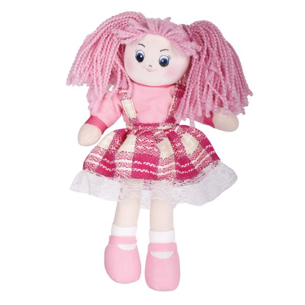 Кукла Клубничка в клетчатом платье, 30смМягкие куклы<br>Кукла Клубничка в клетчатом платье, 30см<br>