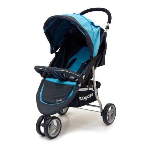 Коляска прогулочная Jogger Lite, blueДетские коляски Capella Jetem, Baby Care<br>Коляска прогулочная Jogger Lite, blue<br>