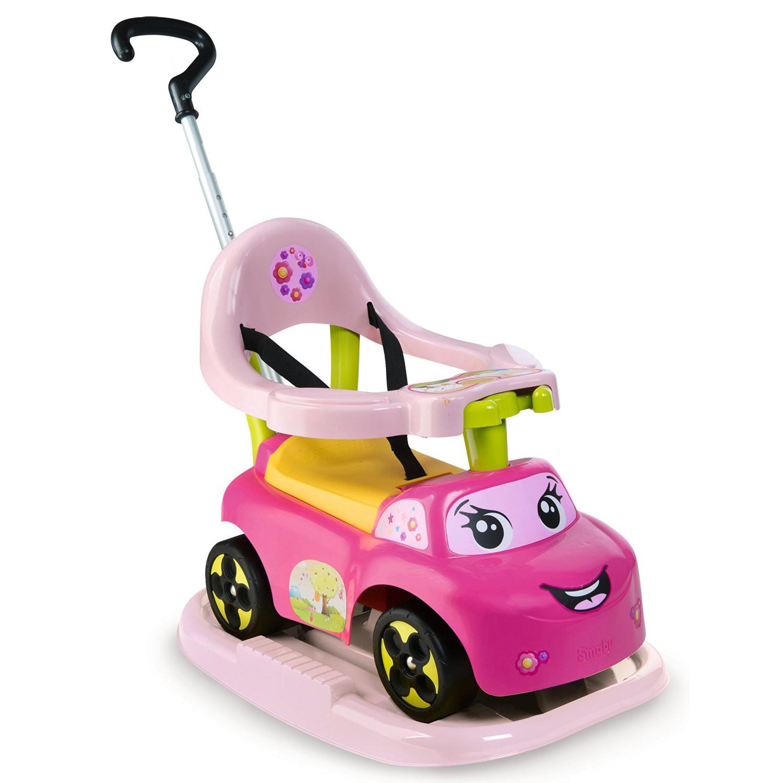 Каталка-качалка трансформер, розовая, со звукомМашинки-каталки для детей<br>Каталка-качалка трансформер, розовая, со звуком<br>